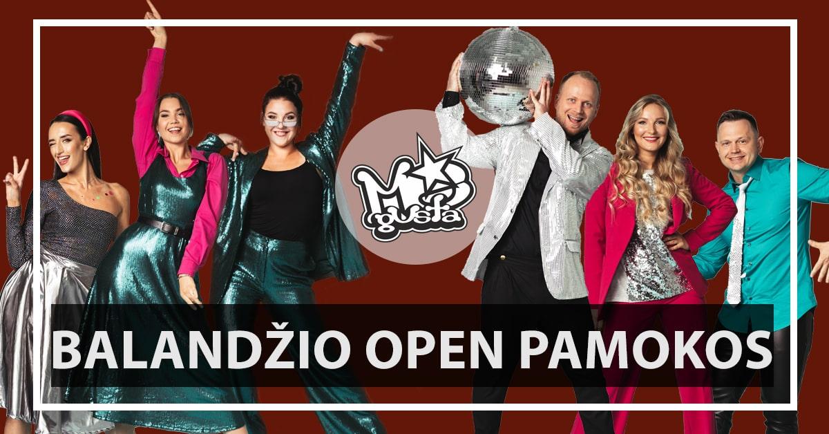 Open pamokos Balandis